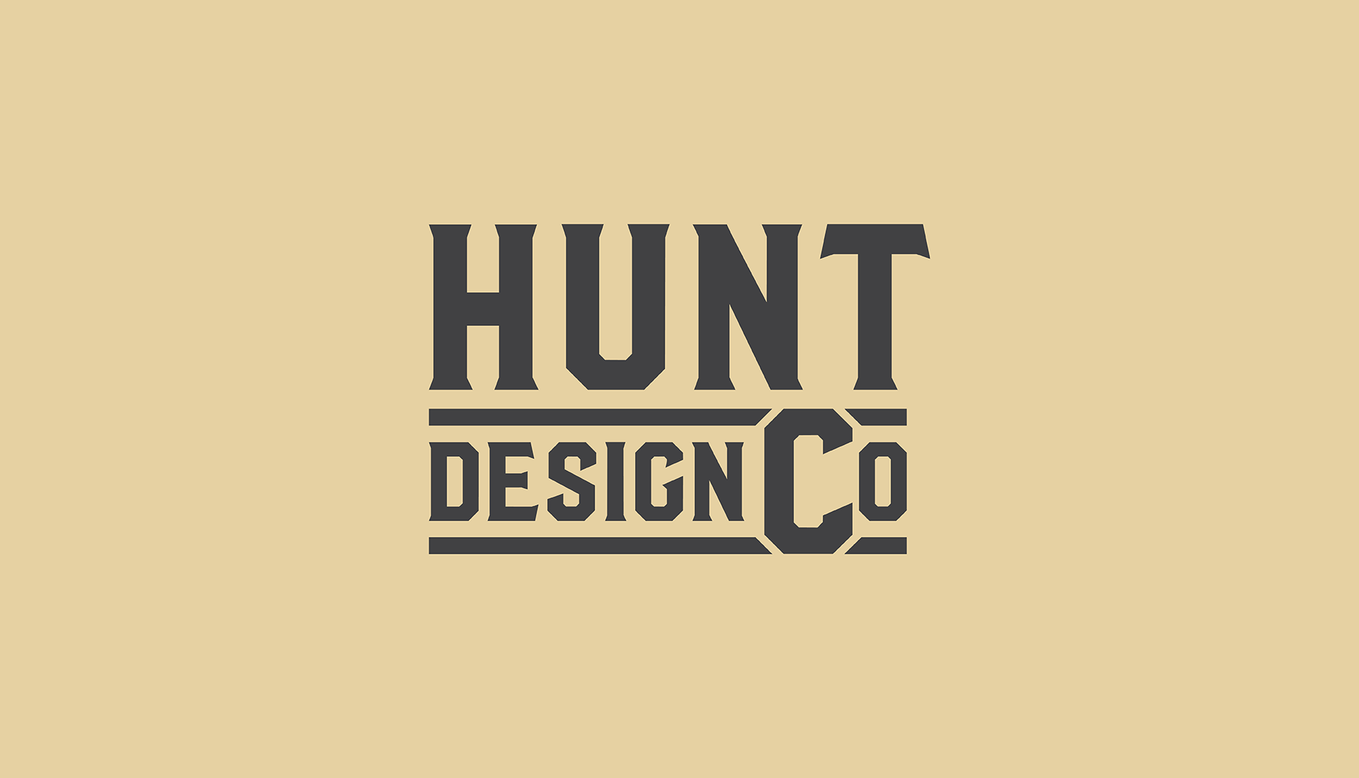 Hunt Design Co.   Logo Design Concept 1