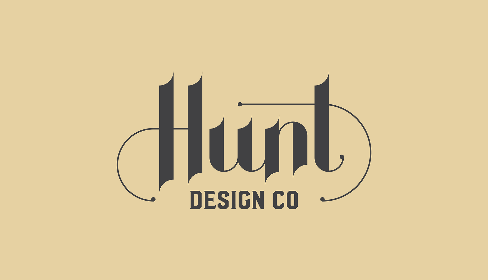 Hunt Design Co.   Logo Design Concept 2