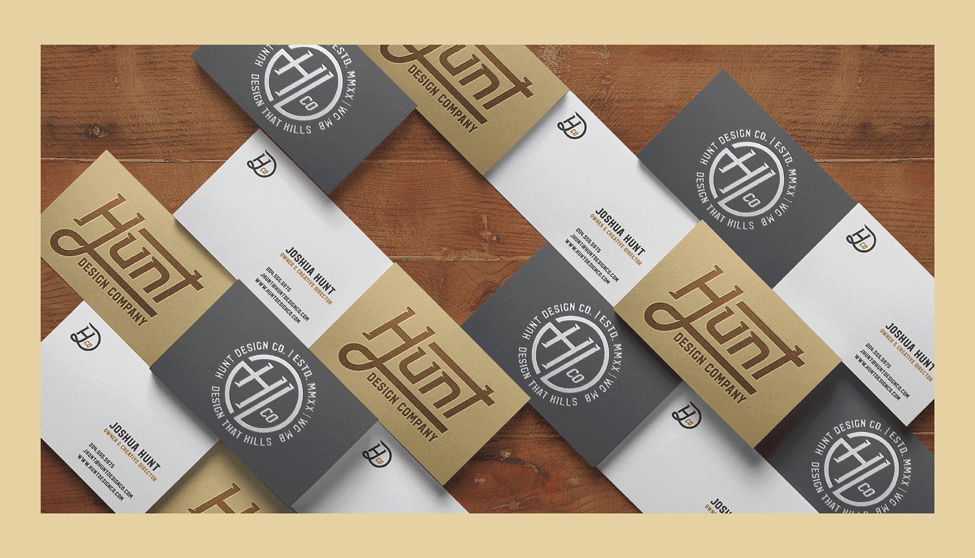Hunt Design Co.   Business Cards