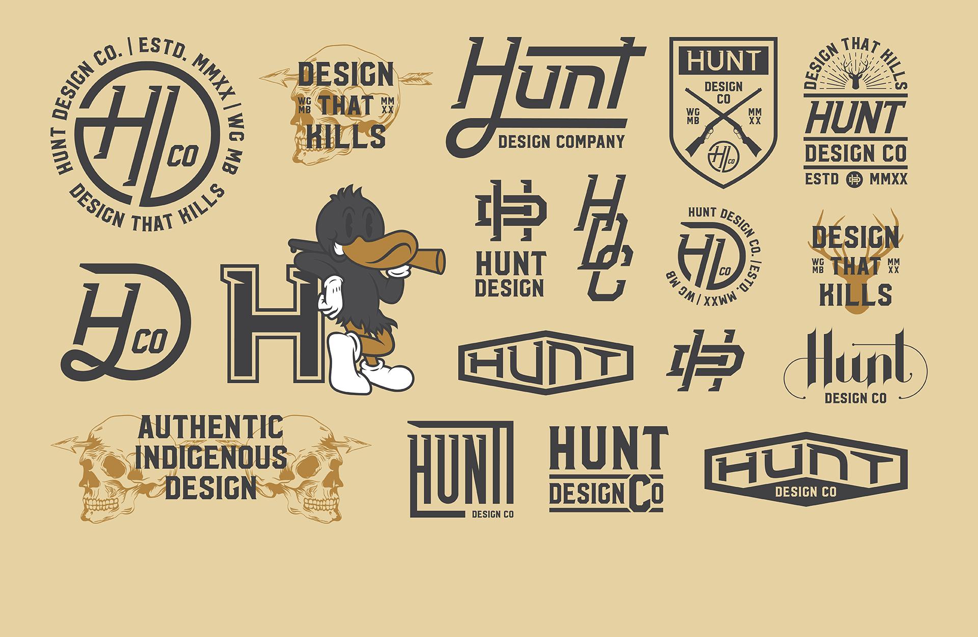 Hunt Design Co.   Logos, Badges, Brand Flash Sheet Design