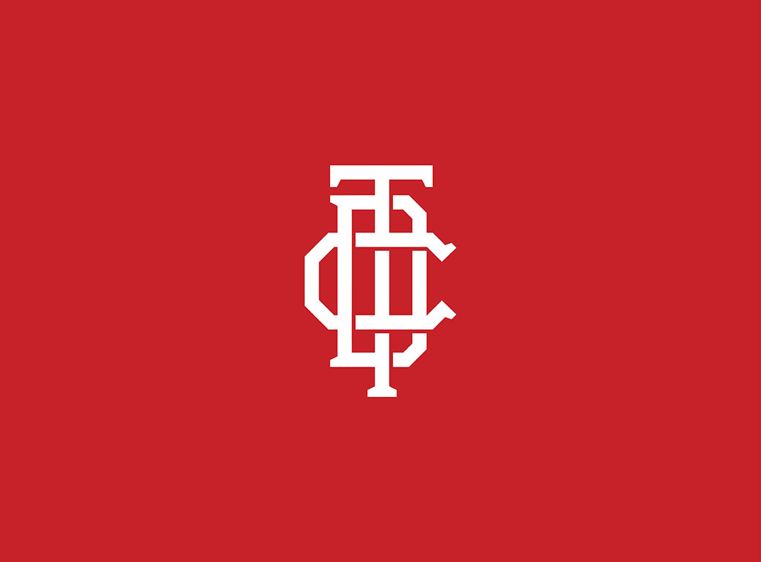 Thred Design Co. | Secondary Logo Icon on red background