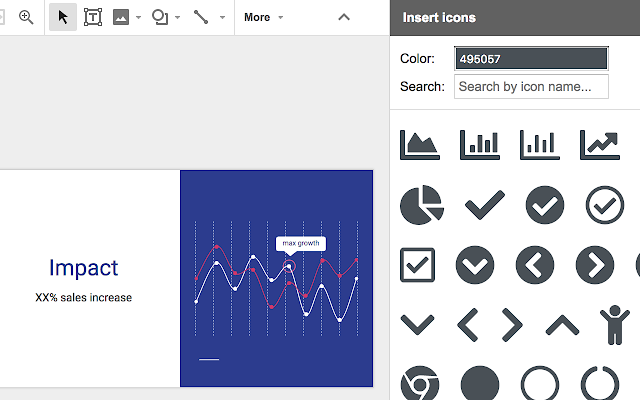 insert icons google slides add-on
