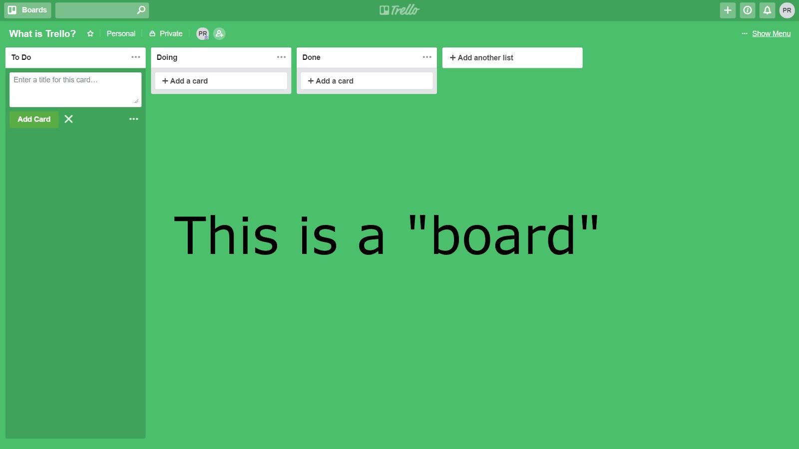 trello board