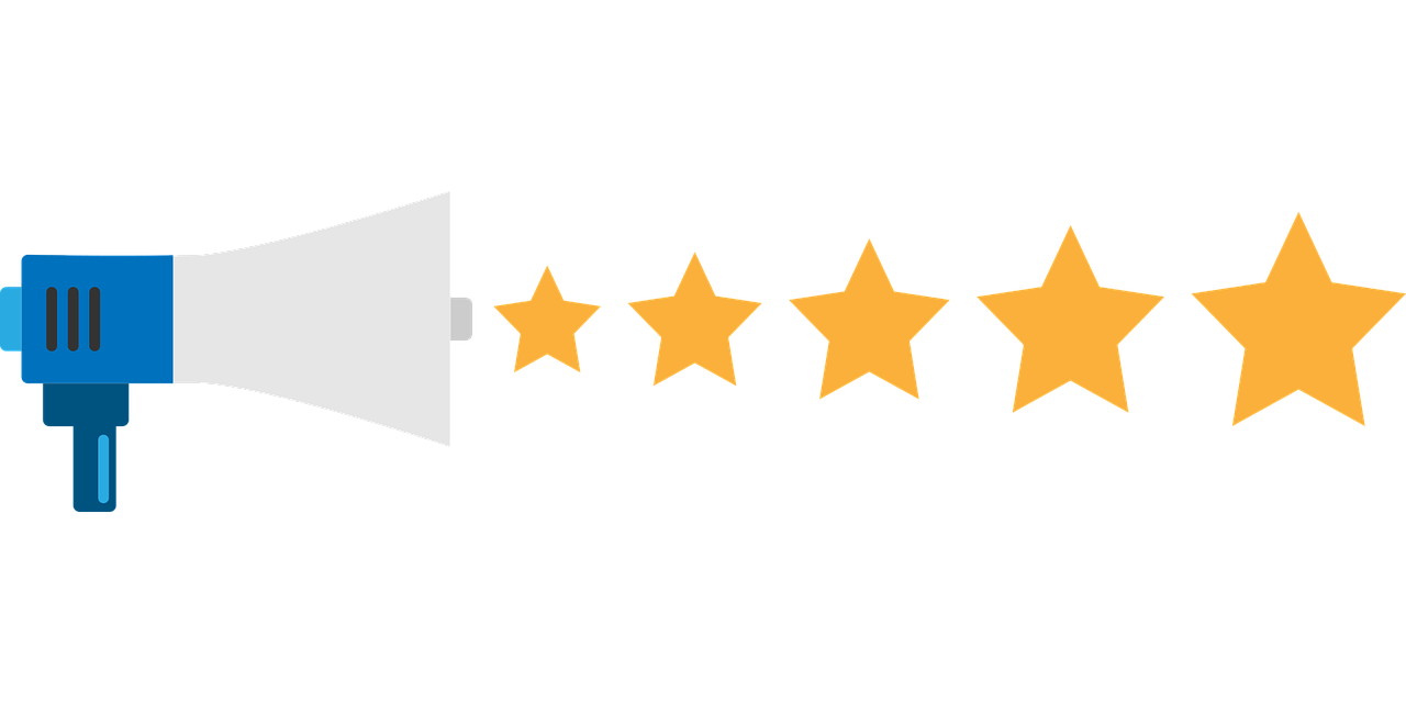 Best customer experience bullhorn with gold stars