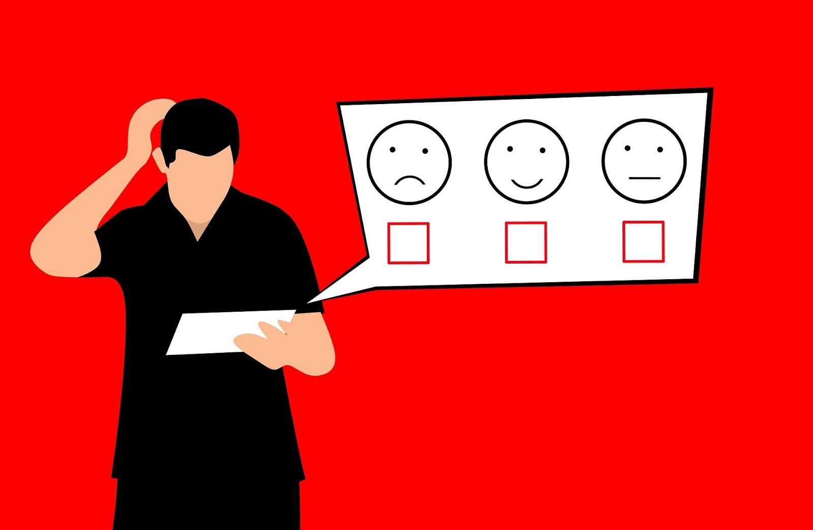 Choosing customer feedback guy