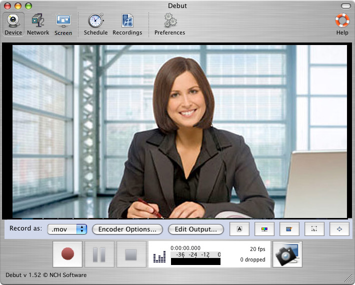 Debut Video Capture video recording software