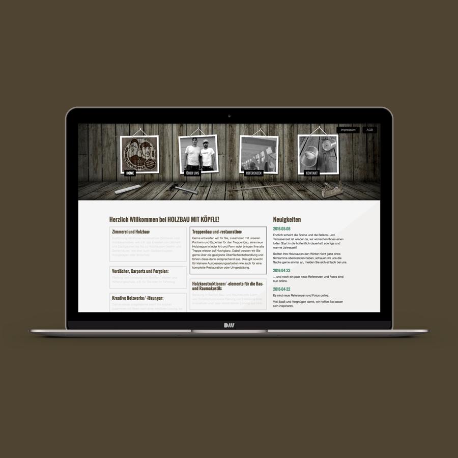Webseite: Holzbau mit Köpfle, Schwaikheim