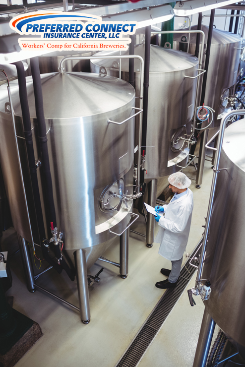 Brewery Employee Checks Equipment To Ensure Injury Prevention