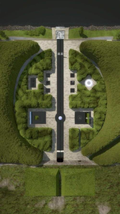 View of the Garden of Life from above