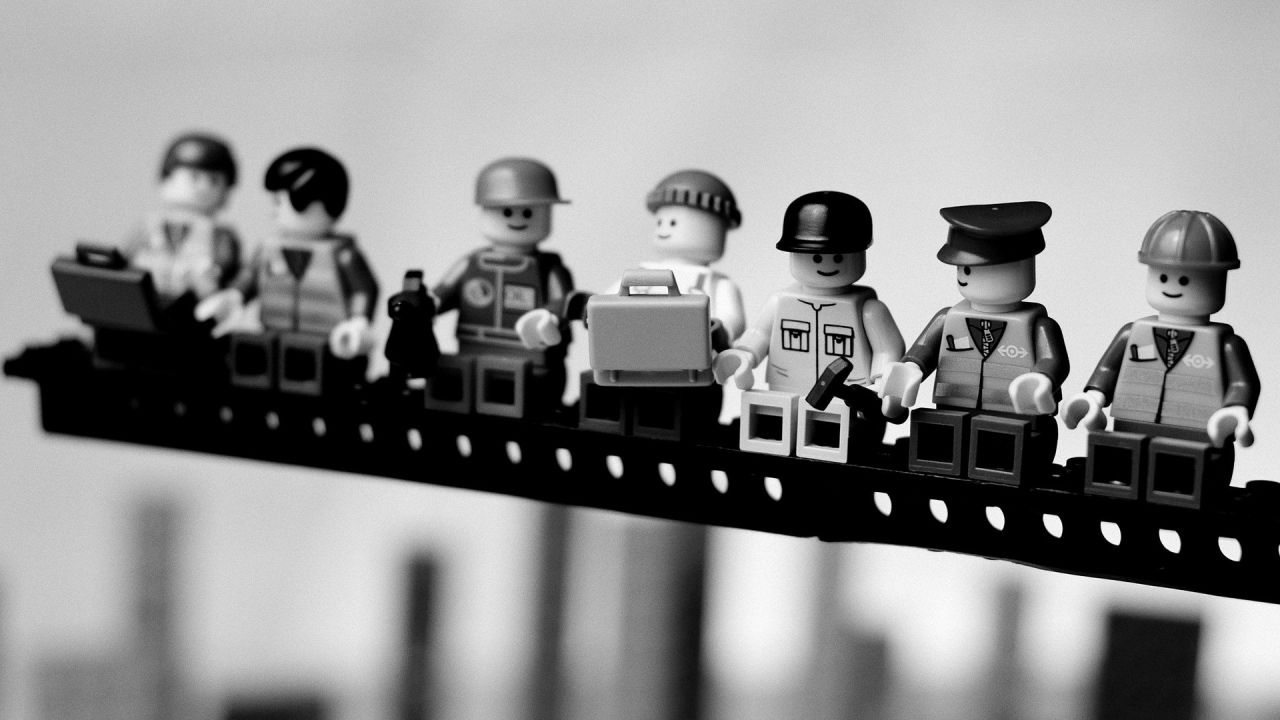 a team of lego people
