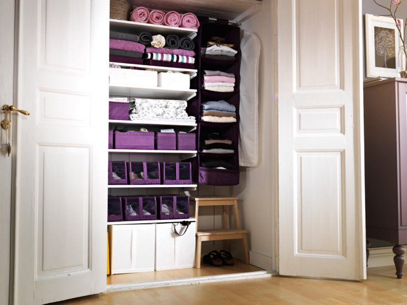 open closet with storage