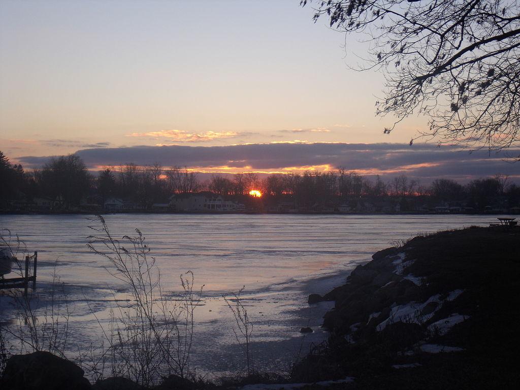 sunset at buckeye lake ohio