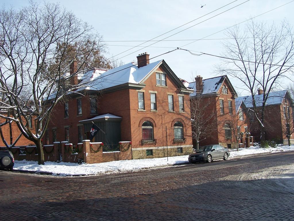 brick homes in german village, ohio
