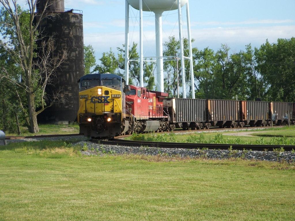 train on a track in leipsic ohio
