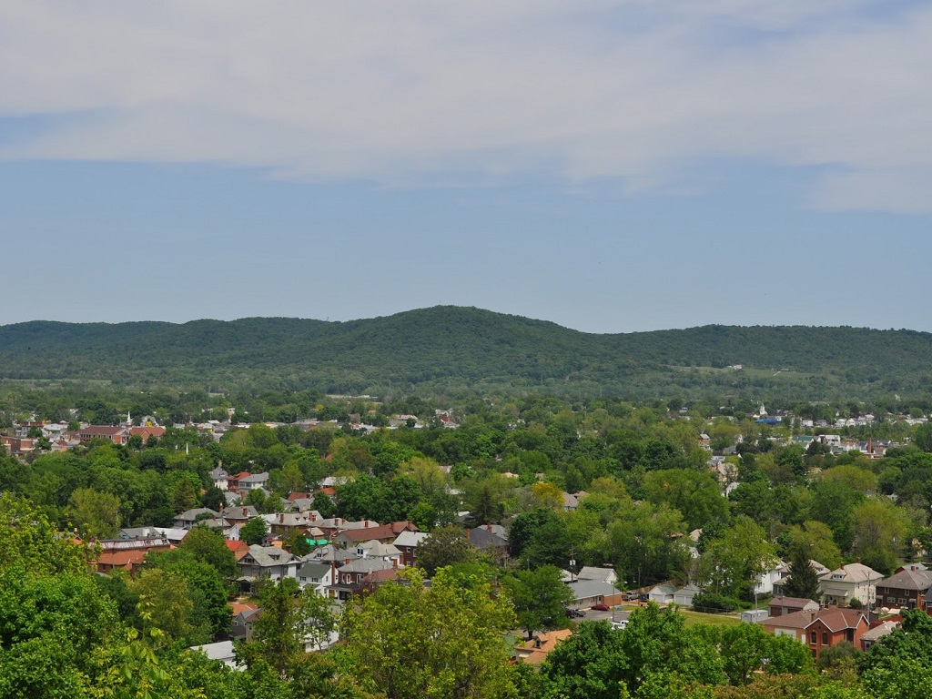 an aerial view of the city of chillicothe ohio