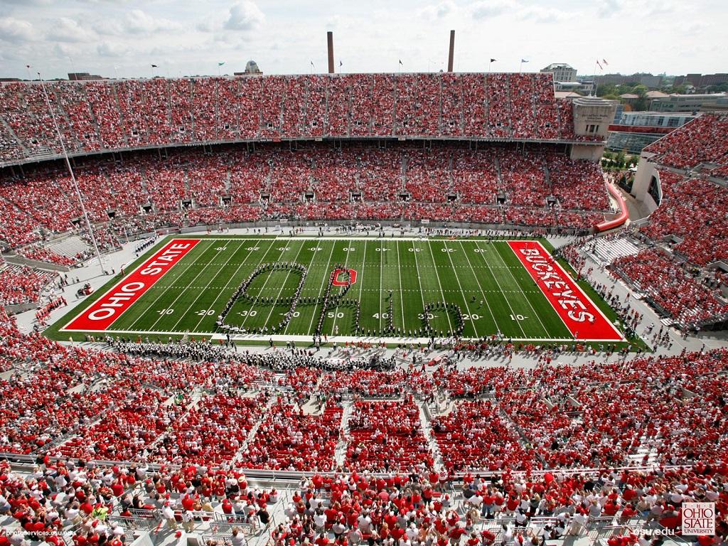ohio state football stadium on game day