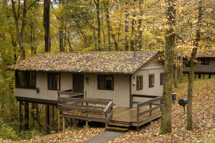 cabin in a forest at pike lake state park