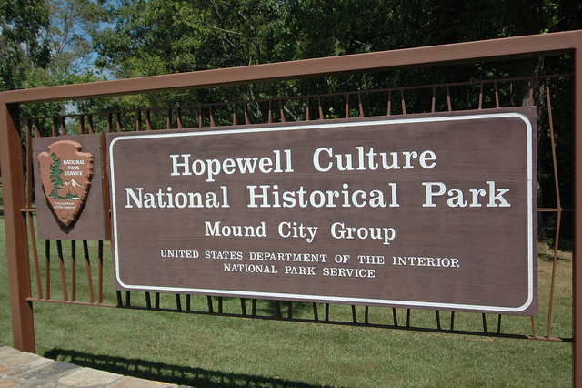 Hopewell Culture National Historical Park sign