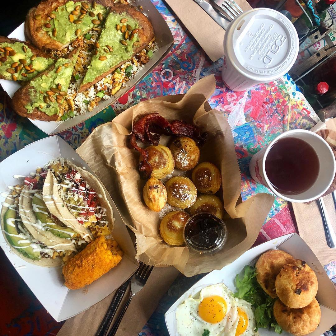 brunch food at Katalina's Cafe, Ohio