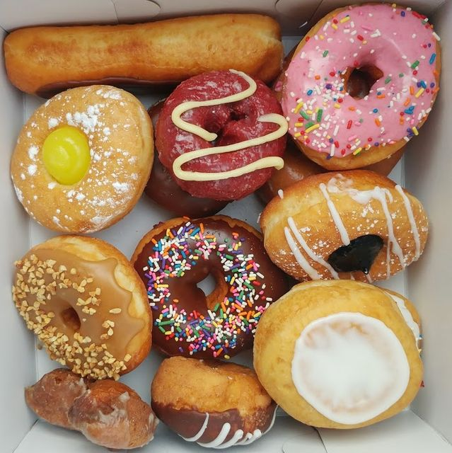box of donuts and other pastries