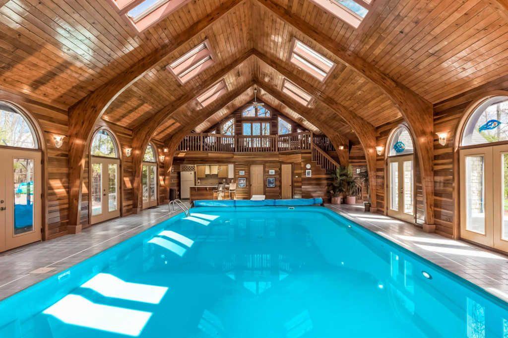indoor pool inside mansion