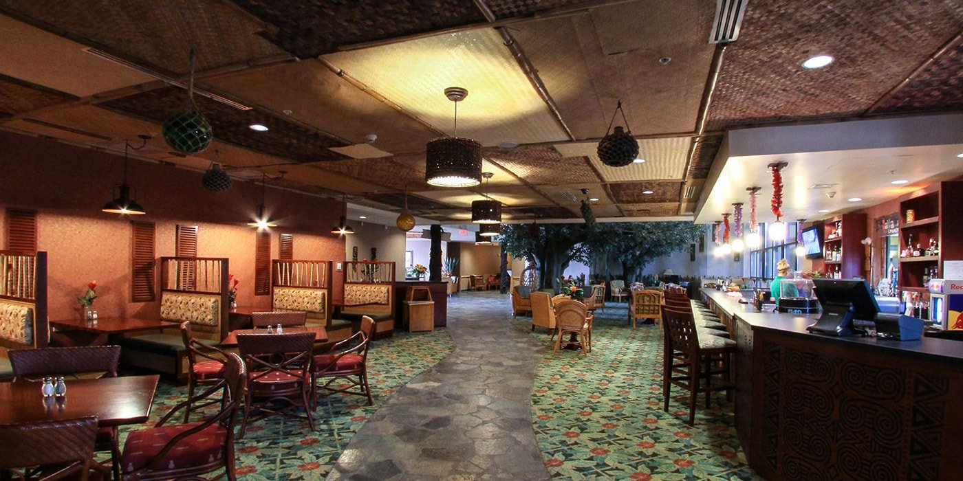 lava lounge restaurant at Maui Sands waterpark