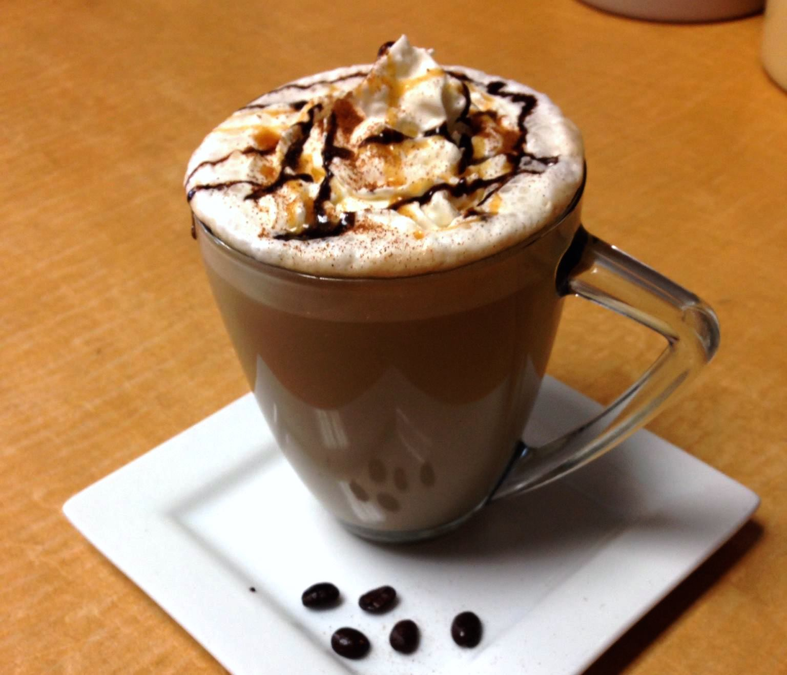 latte from Coffee Beans and Brew in Liberty Township, OH