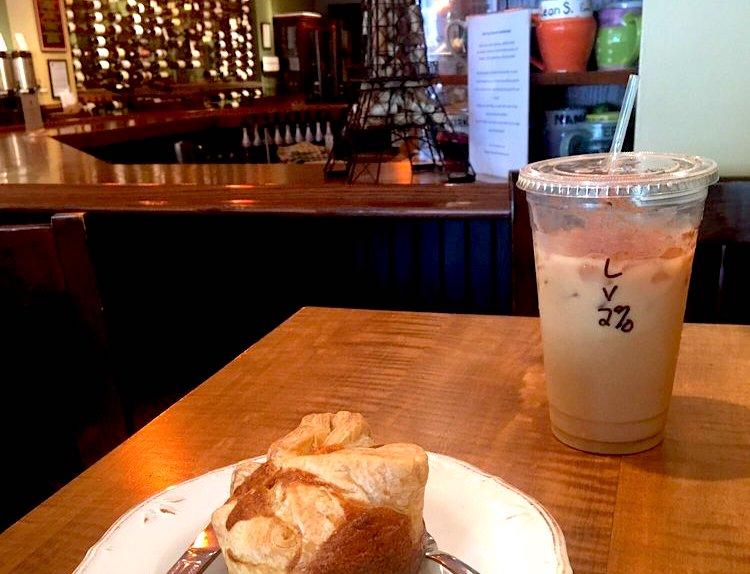 coffee & danish at Awakenings Coffee and Wine