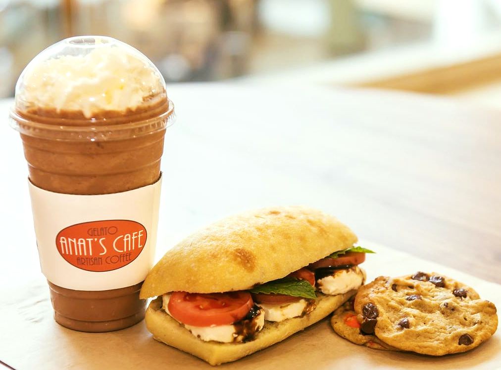 frozen coffee & food from Anat's Cafe, Ohio