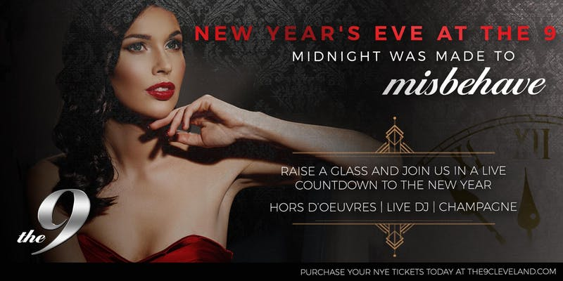 Ad for New Years Eve at the 9