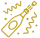champagne bottle popping icon