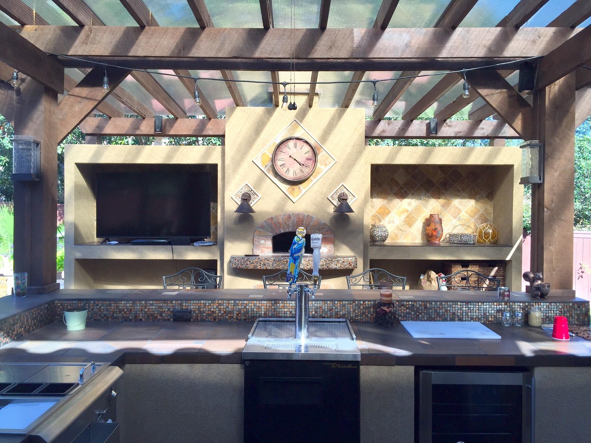 gorgeous full outdoor backyard kitchen