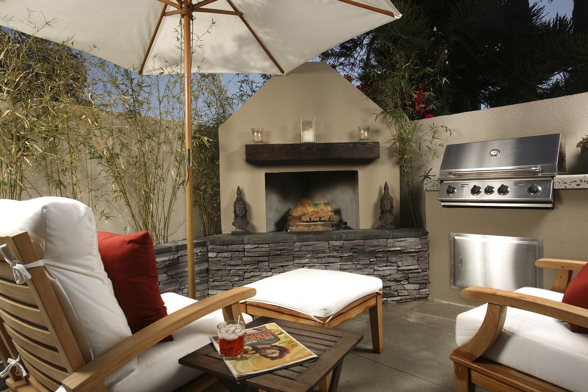 an upgraded exterior living area