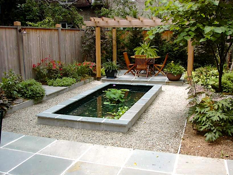 gravel and stone backyard with no grass