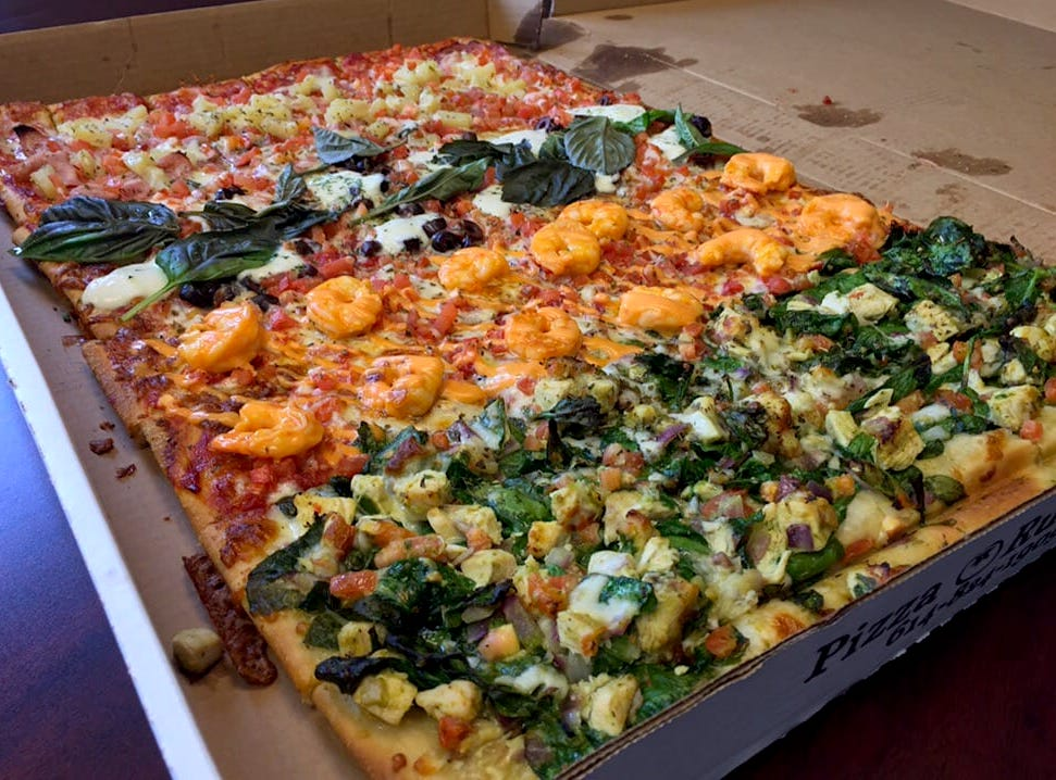 4 play mixed topping pizza from Pizza Rustica