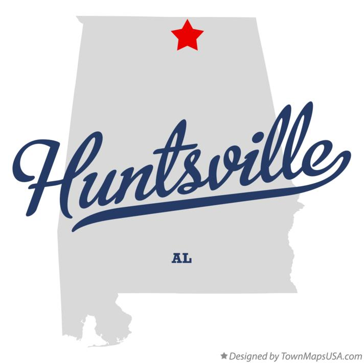 Huntsville Alabama map graphic