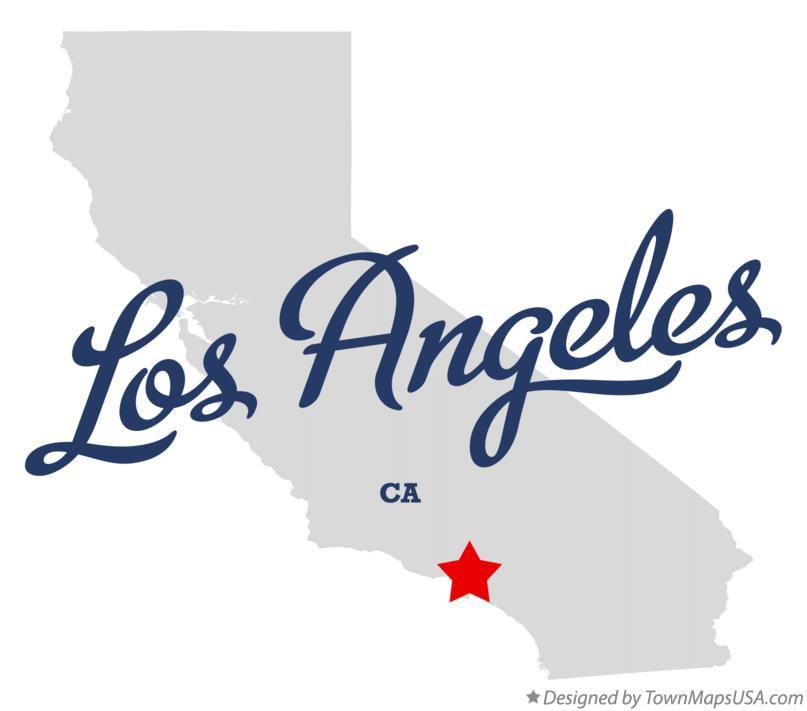 Los Angeles California map graphic
