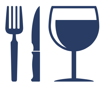 food utensils & wine glass icon