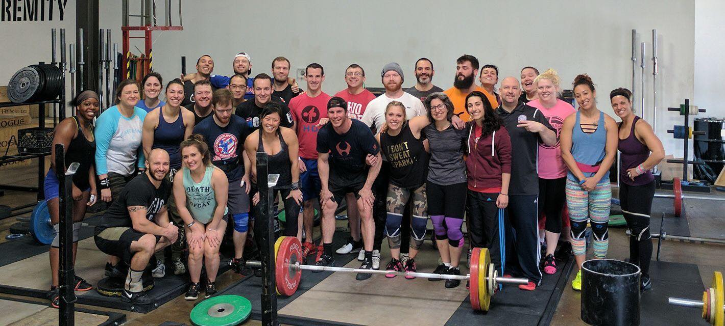 Group photo of Columbus Weightlifting Club