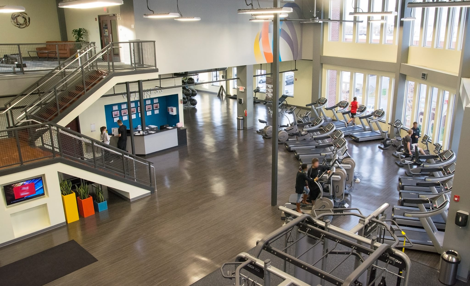 Aerial view of The Fitness Loft gym