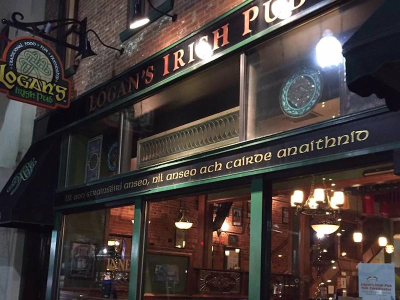 outside of Logan's Irish Pub