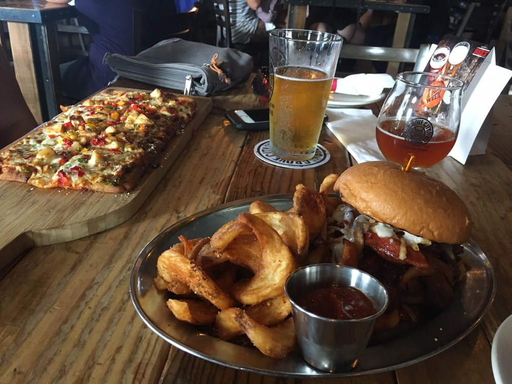 Pizza from Grove City Brewing Co.