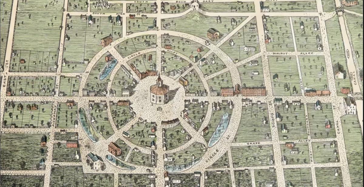 Historic map of Circleville, Ohio
