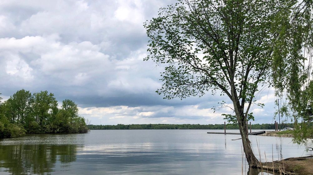 The lake at Alum State Park in Delaware, Ohio