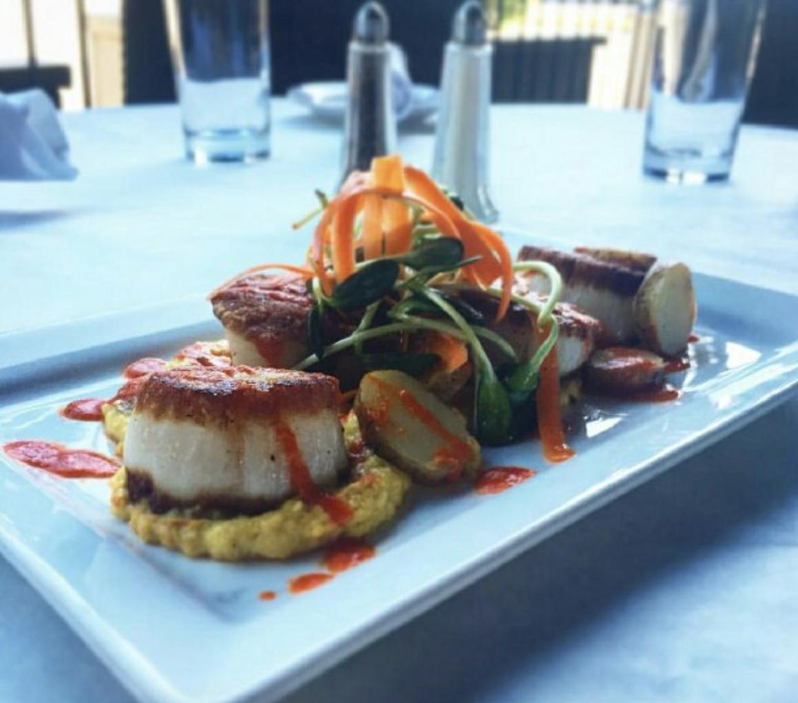 a plate of food at an upper arlington restaurant