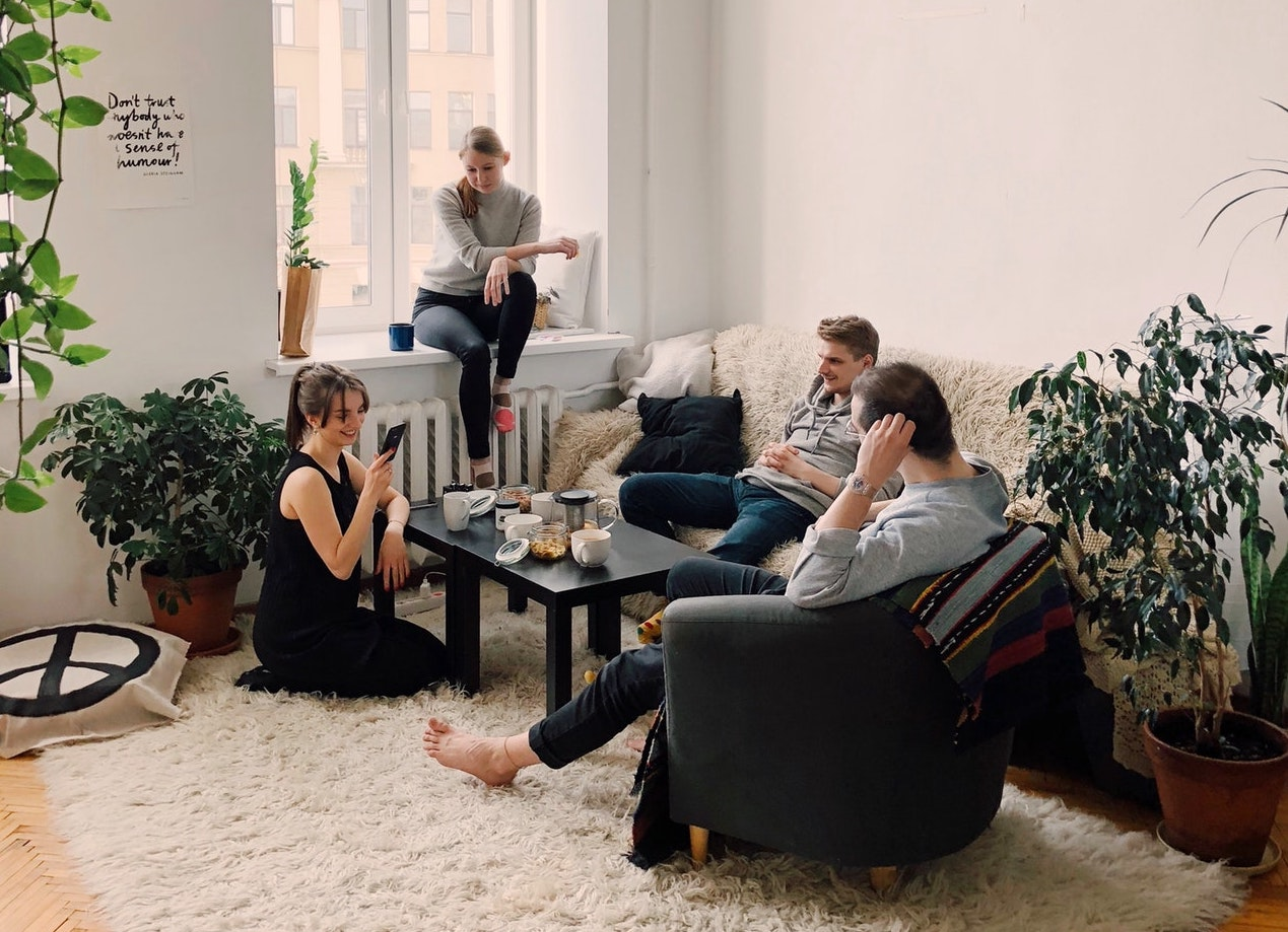 people gathered in a living room