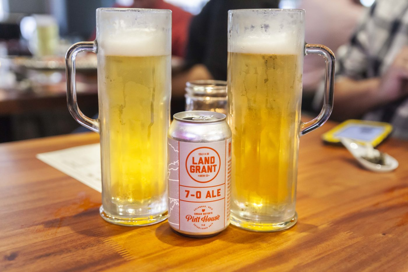 Land-Grant 7-0 Ale served at Urban Meyer's Pint House