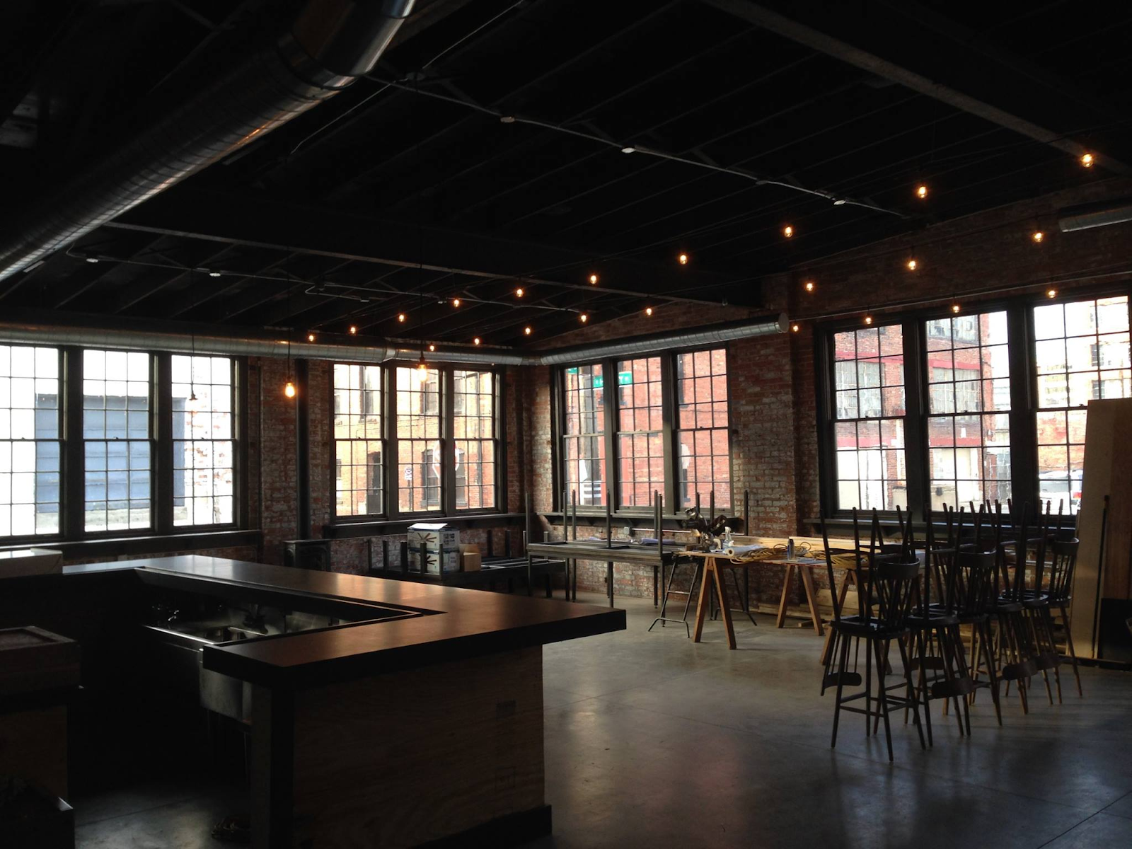 Wolf's Ridge Brewing taproom after patrons have left