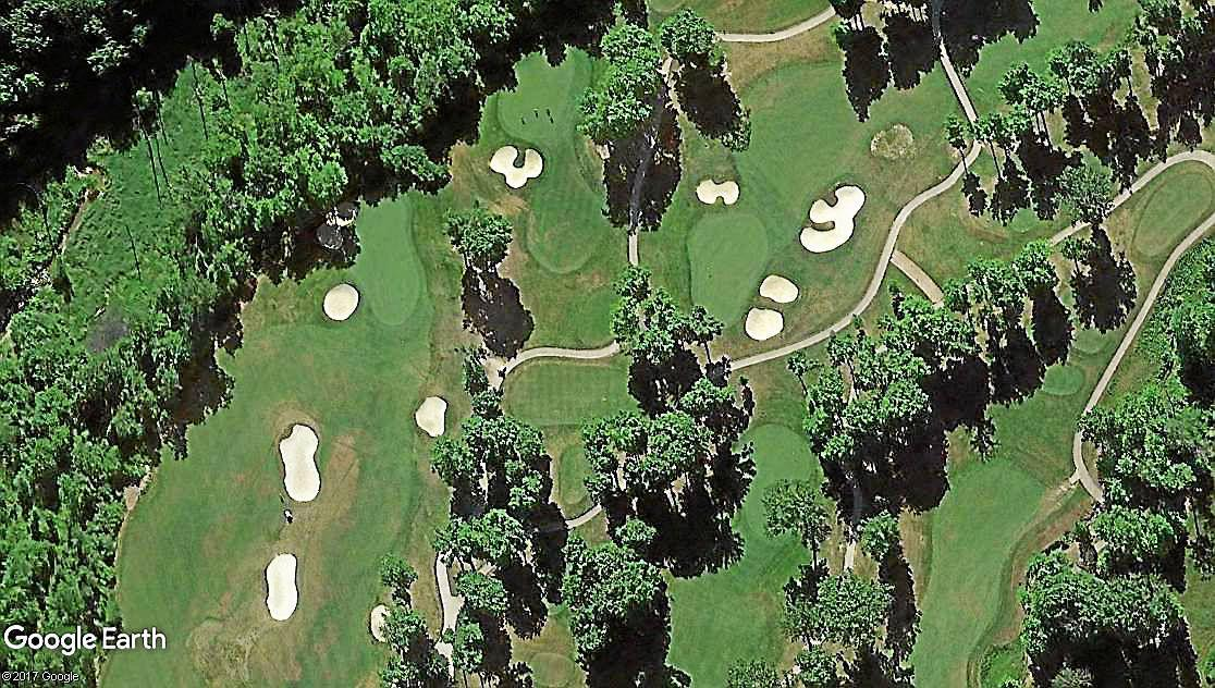 aerial view of part of the gold course