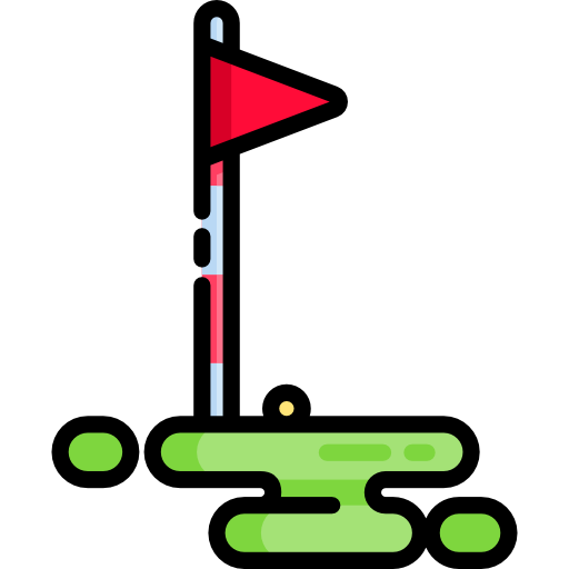 icon of a golf flag hole